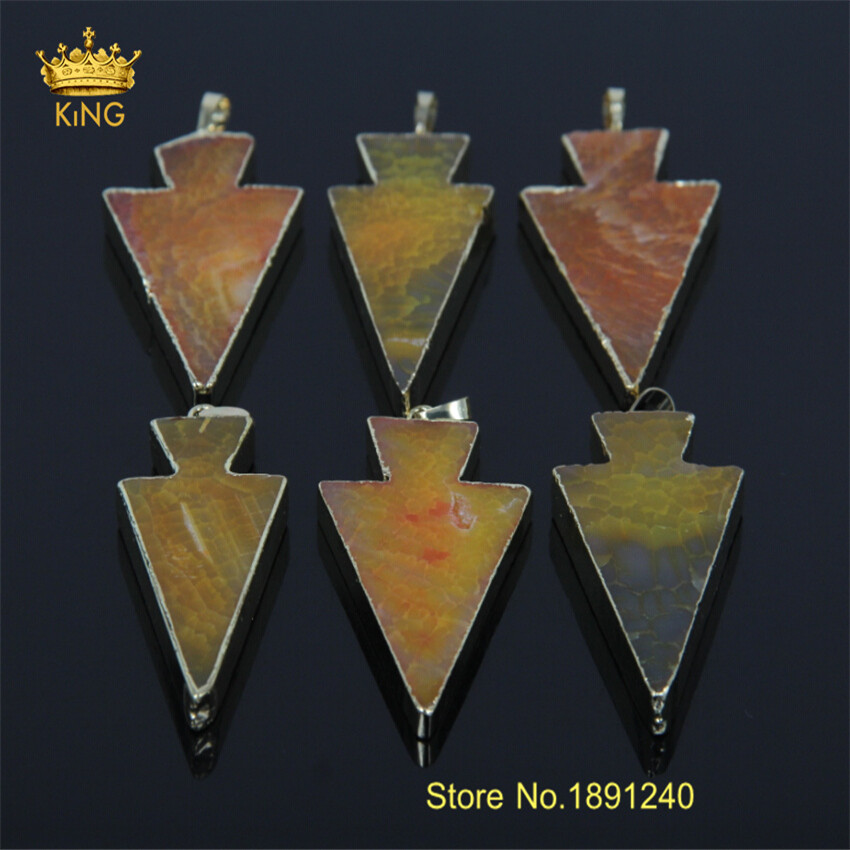 Plated Gold Natural Raw Stone Ag ate Pendant Necklaces Women Bijoux Stone Gem Stone Pendant DIY Necklace Jewelry KP069