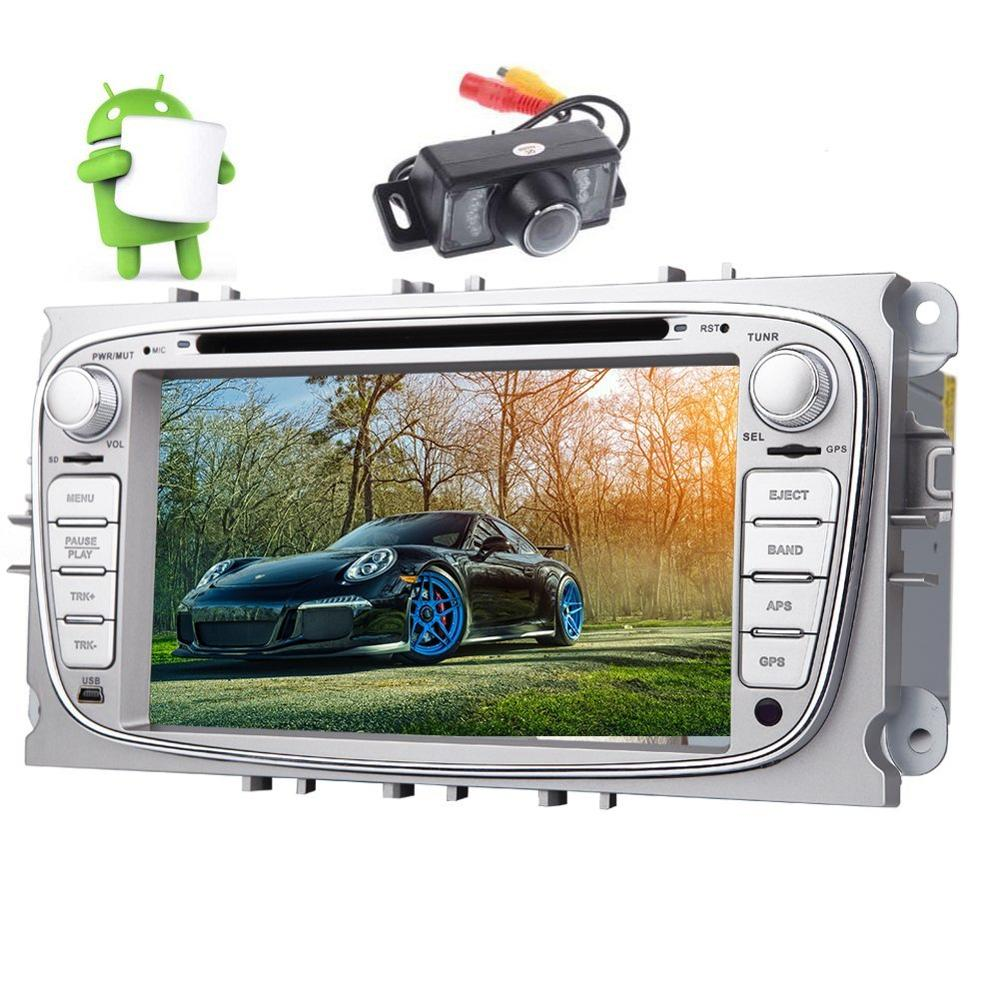 Android 6.0 7 Car Radio Stereo 2din HD Car dvd Player for Ford Focus Mondeo for Galaxy S-max GPS Navigation FM RDS Radio Wifi